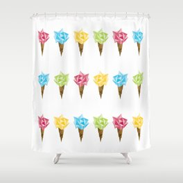 Ice Cream/Different Colors Shower Curtain