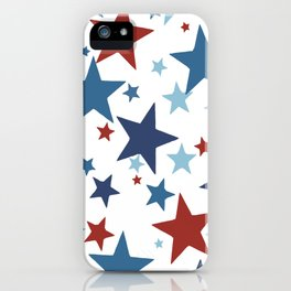 Stars - Red, White and Blue iPhone Case