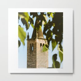 Bell tower of Soave Metal Print