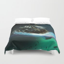 Kraken Attack Duvet Cover