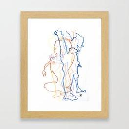 Blind Contour Framed Art Print