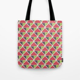 Retro Geometry surface pattern (Pink-green small) Tote Bag