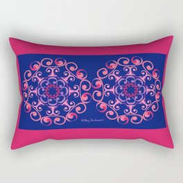 Grace Mandala x 2 - Pink Navy Rectangular Pillow