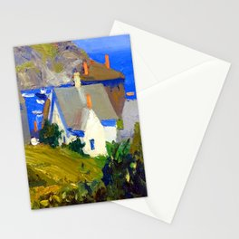 Edward Hopper Monhegan Houses Stationery Cards