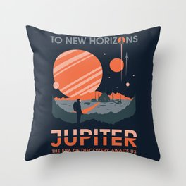 To New Horizons Throw Pillow