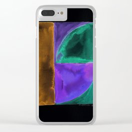 180818 Inverted Geometrical Watercolour 1| Colorful Abstract | Modern Watercolor Art Clear iPhone Case