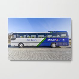 Malev Airlines Bus Metal Print