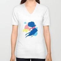 dramatical murder V-neck T-shirts featuring DRAMAtical Murder (Aoba) by MyobiArt