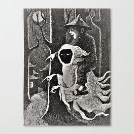Spook illustration Canvas Print