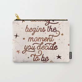 Beauty Quote Carry-All Pouch