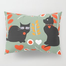 Romantic cats Pillow Sham