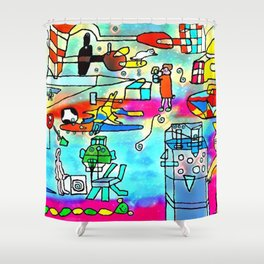 Yards and laboratories Shower Curtain