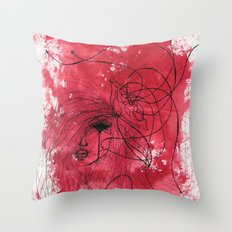 The Mean Reds Throw Pillow