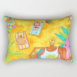 California beach surf Rectangular Pillow