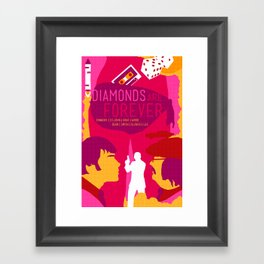 James Bond Golden Era Series :: Diamonds Are Forever Framed Art Print