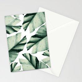 Tropical Banana Leaves Vibes #1 #foliage #decor #art #society6 Stationery Cards