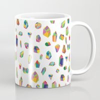crystals Mugs featuring Crystals by Leah Zobott