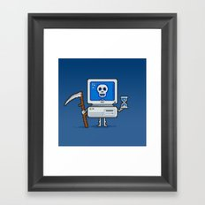 Blue Screen of Death Framed Art Print