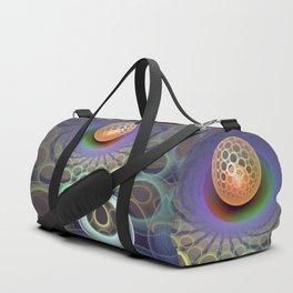 Phlat ball, fractal 3-D pattern abstract Duffle Bag