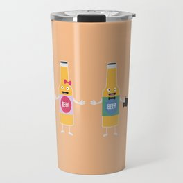 Wedding Beerbottle couple T-Shirt Dn4bx Travel Mug