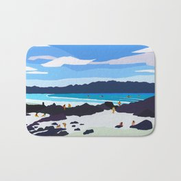 Rocky shore Bath Mat