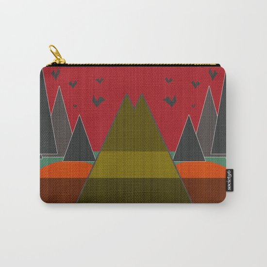 Abstract pattern . Mountains. Carry-All Pouch