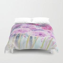 Alliums and Foxgloves Duvet Cover