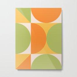 Mid Century Modern Geometric Abstract 356 Metal Print