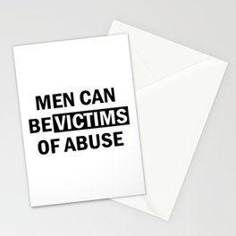Men Can Be Victims of Abuse Stationery Cards