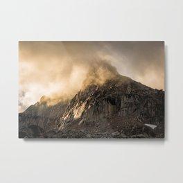 Mountain light Metal Print