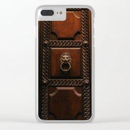 Roman Door XIII Clear iPhone Case