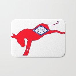 Arkansas Democrat Donkey Flag Bath Mat