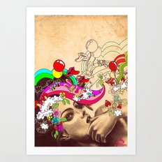 Happy Pills Art Print