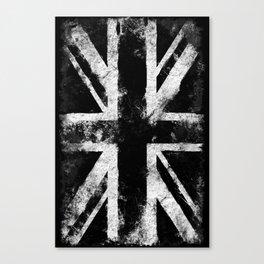 Black Grunge England flag Canvas Print