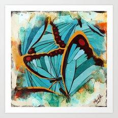 Butterflies in Blue Art Print