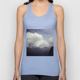 clouds over mountains Unisex Tank Top