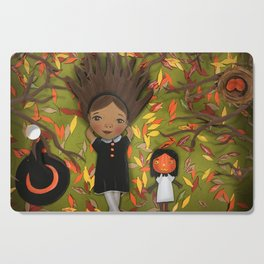 Little Fall Witch Cutting Board