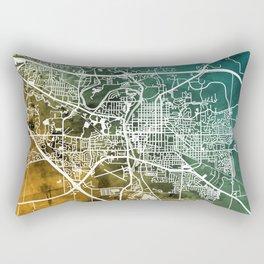 Iowa City Map Rectangular Pillow