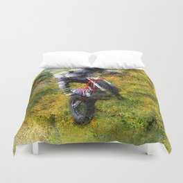 Extreme Biker - Dirt Bike Rider Duvet Cover