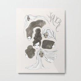 Hair 1 of 3 Metal Print