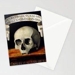 Andrea Previtali - Portrait of a Man - Memento Mori - Back (1502) Stationery Cards