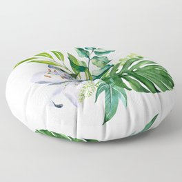 Flower and Leaves Floor Pillow