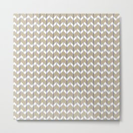 Woven Pinstripe Metal Print