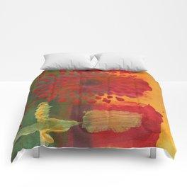 Red Spray Flower Comforters