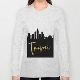 TAIPEI TAIWAN DESIGNER SILHOUETTE SKYLINE ART Long Sleeve T-shirt