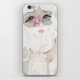 Mysterious Lady Butterfly iPhone Skin