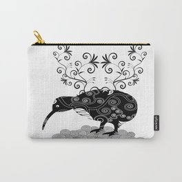 Black and white KIWI Carry-All Pouch