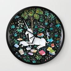 The Unicorn is Reading Wall Clock