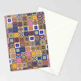 Hand Drawn Floral Patchwork Stationery Cards