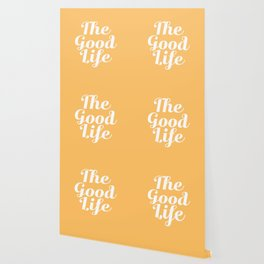 The Good Life - Yellow and White Wallpaper